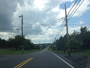 Pennsylvania Route 329 - PA 329 westbound in North Whitehall Township