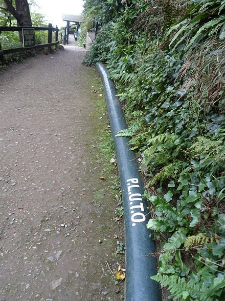A surviving section of the pipeline at Shanklin Chine. PLUTO Shanklin Chine.jpg