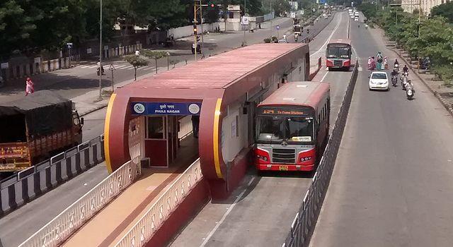 Phule Nagar BRTS Station.