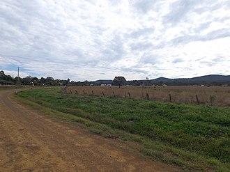 Calvert, Queensland - Houses and paddocks along Waters Road, 2015