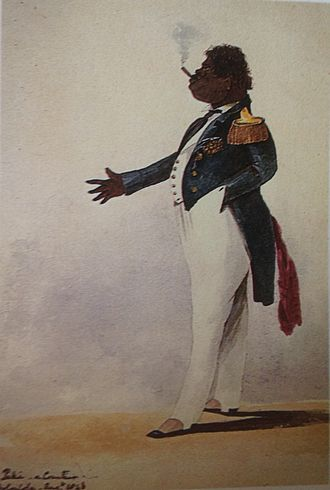 Pākī - Paki, a courtier, painting by Admiral Sir Henry Byam Martin, 1846