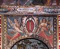 Palazzo colonna, appartamento della principessa isabelle, sala dell'alcova, affreschi di cristoforo pomarancio e scuola, stemma colonna 02.JPG
