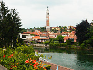 Palazzolo sull'Oglio - View of the city centre.
