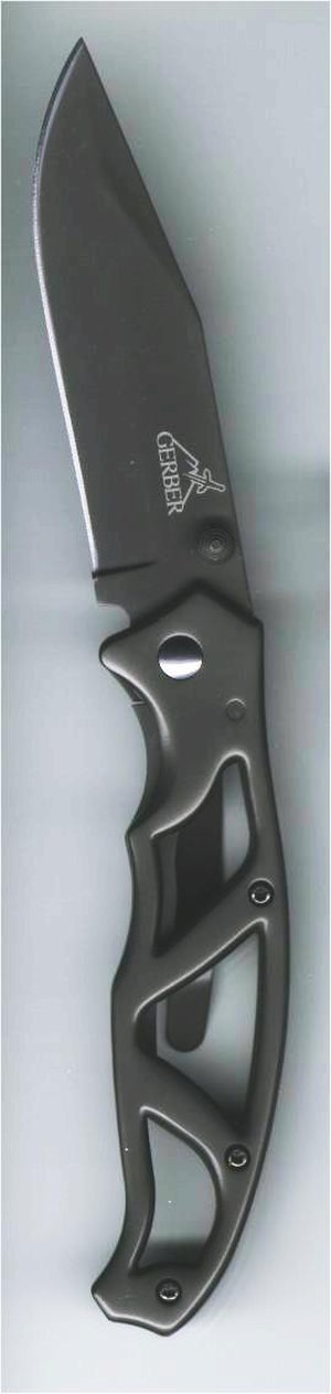 Titanium nitride - Dark gray TiCN coating on a Gerber pocketknife