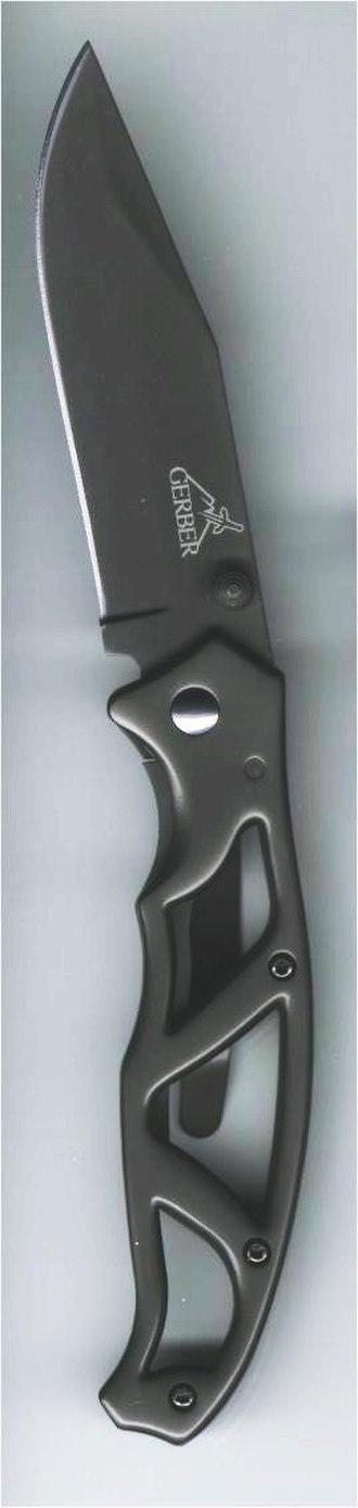 Titanium nitride - Dark gray TiCN coating on a Gerber pocketknife