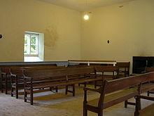 ... Innere des Versammlungshauses der Quäker in Pardash Hall in England