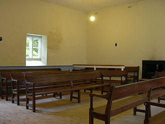 Pardshaw Young Friends' Centre - The interior of the meeting room at Pardshaw.