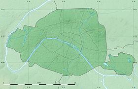 Voir sur la carte topographique de Paris