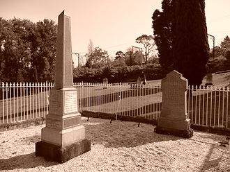 Faulconbridge, New South Wales - Graves of Henry Parkes and his first wife, Clarinda, Faulconbridge Cemetery