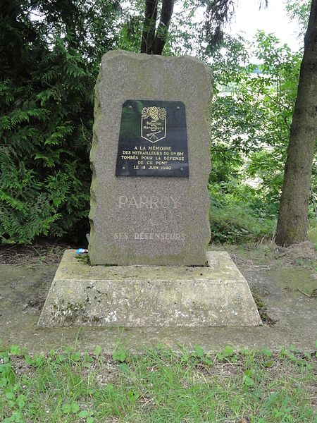 Parroy (M-et-M) mémorial bataillon mitrailleurs