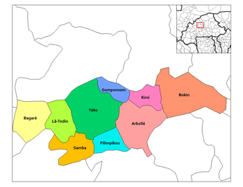 Yako Department location in the province
