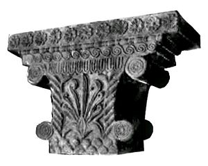 Indian art - The Pataliputra capital, an early example of Mauryan stone sculpture, displaying Persian and Hellenistic influences.