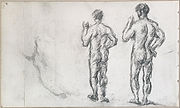 Paul Cézanne, French - Standing Male Bather; Puget's Atlas - Google Art Project.jpg