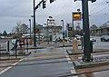 Pedestrian Crossing train warning sign (4575703860).jpg