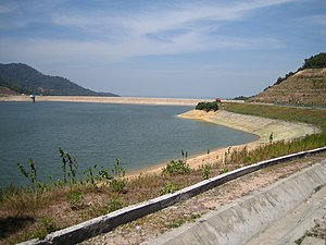 Water supply and sanitation in Malaysia - Surface water stored in reservoirs, such as this reservoir supplying Penang, are the most important source of drinking water supply in Malaysia