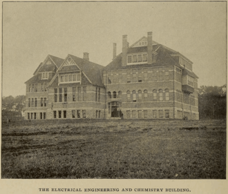 The Electrical Engineering and Chemistry Building Penn State - Electrical Engineering and Chemistry Building - Cassier's 1894-06.png