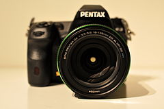 Pentax K-3 with SMC Pentax-DA 18-135mm F3.5-5.6 ED AL -IF- DC WR lens (frontal view).jpg