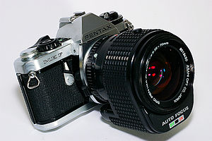 Pentax K-mount - Pentax ME F and SMC Pentax-AF 35-70/2.8, the only products using the KF-mount.