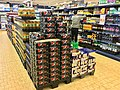 Pepsi Max, soft drinks, etc. for sale in REMA 1000 Supermarket in Osøyro, Hordaland, Norway 2018-03-19.jpg