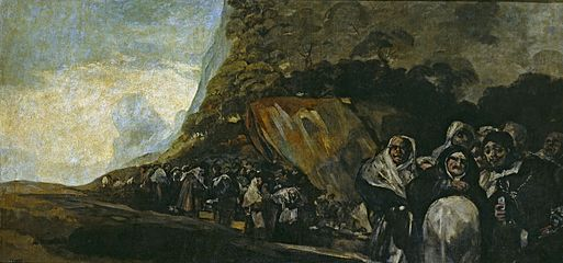 A procession through the mountains