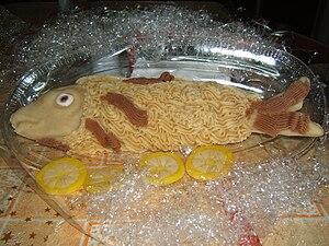 Almond paste - Almond paste fish (a typical Salento Christmas food)