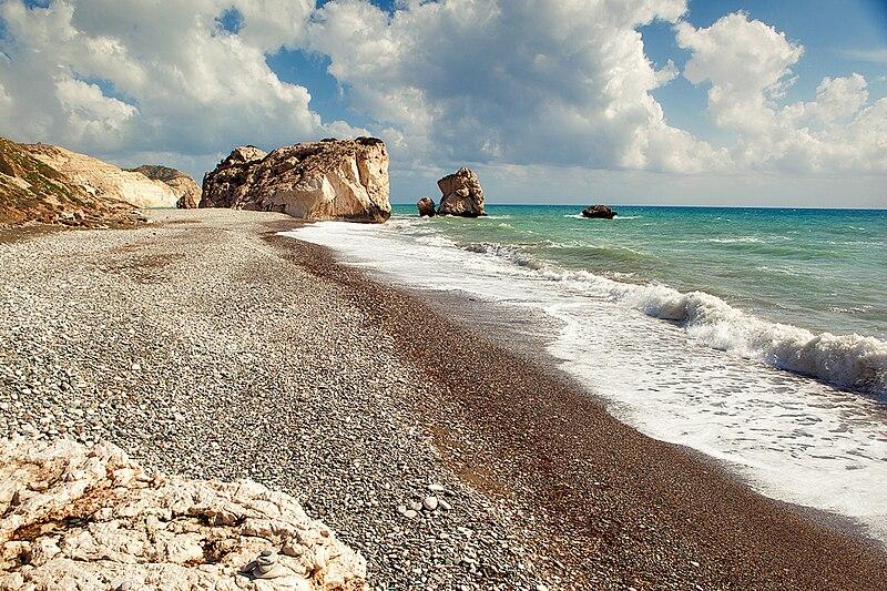File:Petra tou romiou beach.jpg