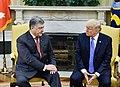 Petro Poroshenko and Donald Trump in the Oval Office, June 2017 (2).jpg