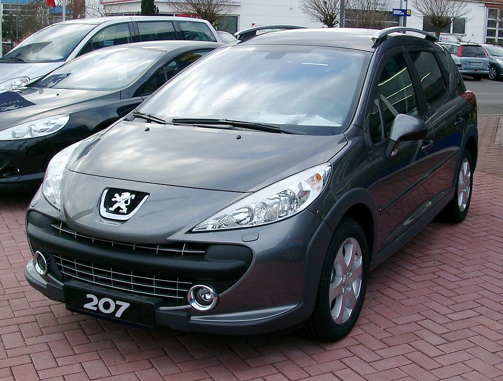 file peugeot 207sw front wikimedia commons. Black Bedroom Furniture Sets. Home Design Ideas