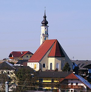 Pfarrkirche Franking(von SO gesehen).JPG