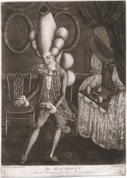 Philip Dawe, The Macaroni. A Real Character at the Late Masquerade (1773)