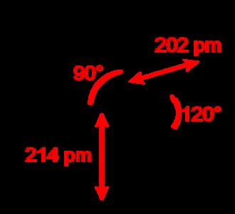 Phosphorus pentachloride - Image: Phosphorus pentachloride 2D dimensions