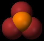 Struktura molekuly bromidu fosforitého