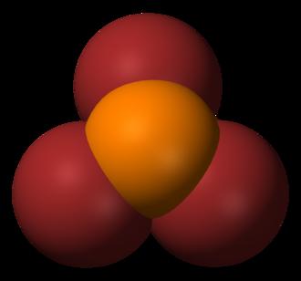 Phosphorus tribromide - Image: Phosphorus tribromide 3D vd W