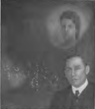 Photo of F. C. Barnes and alleged psychic reproduction of a portrait.png
