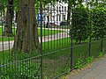 Photo of the fence and tree trunks in the Wertheim park in Amsterdam; a high resolution image by FotoDutch in June 2013.jpg