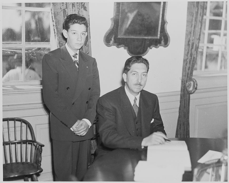 File:Photograph of President Miguel Aleman of Mexico signing the ...
