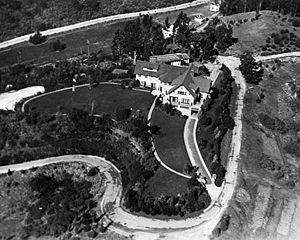 Pickfair - Aerial view of Pickfair, 1920.