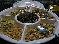 Pickled tea leaves salad, Myanmar.jpg