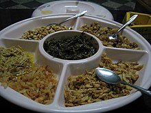 Pickled tea leaves salad, Myanmar.jpg