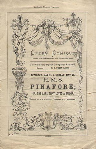 H.M.S. Pinafore - Opening night programme cover