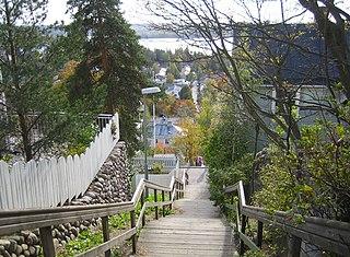 Pispala City area in Tampere, Finland