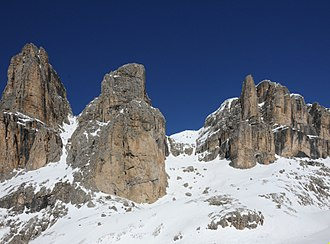 Sella group - Image: Piz Siella e Piz Roces