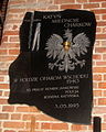 Plaque to victims of massacres in Katyn, Mednoye and Kharkiv, Church of St. Bridget in Gdańsk.jpg