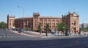 Las Ventas - View of the bullring from Calle de Alcalá (street).