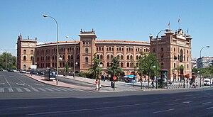 Las Ventas - View of the bullring from Calle de Alcalá (street).
