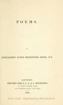 Poems (Beresford Hope, 1843).djvu