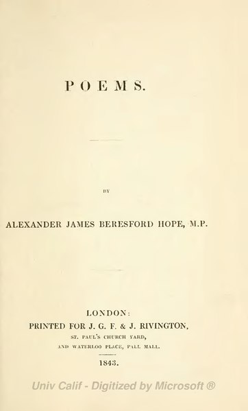 File:Poems (Beresford Hope, 1843).djvu