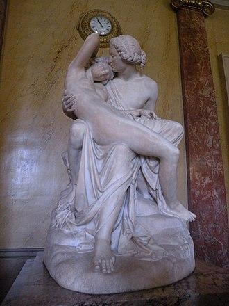 Deidamia (opera) - Achilles and Deidamia by Joseph-Michel-Ange Pollet, 1854