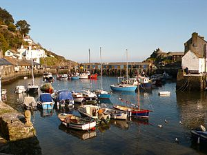 Polperro - The harbour viewed from the village