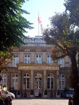 Embassy of Poland, Paris - The Hôtel de Monaco - Chancellery of the Polish Embassy in Paris